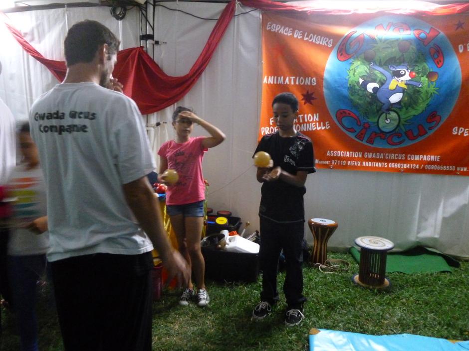 atelier de jonglerie en Guadeloupe